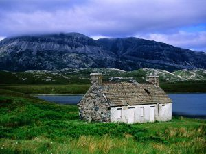 An-Abandoned-Croft-Loch-Stack-Sutherland-The-Highlands-S