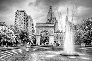 fountain-washington-square-park-BW-2